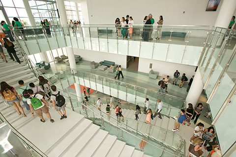Students at the University of Miami Student Center